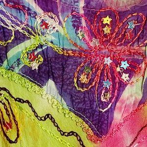 Sequin Embellished Tye Dye Maxi Dress